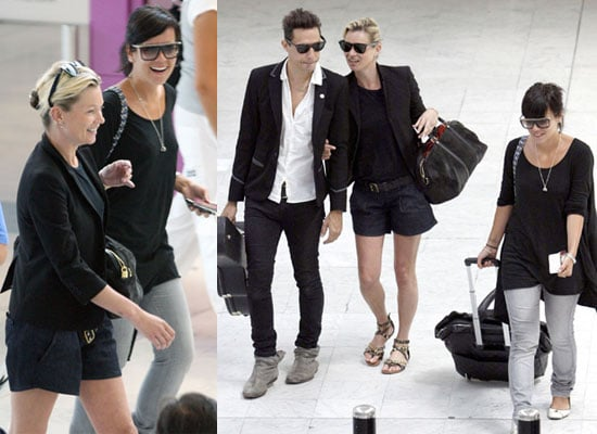 19/6/2009 Kate Moss, Jamie Hince, Lily Allen at Nice Airport