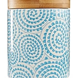 Chelsea Collection Aqua Swirl Canister ($34)