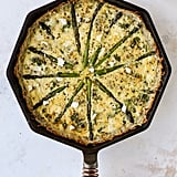 Asparagus Quiche With Hash Brown Crust