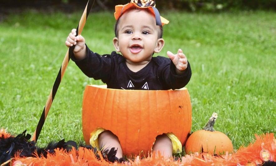 Cute Photos of Babies in Pumpkins