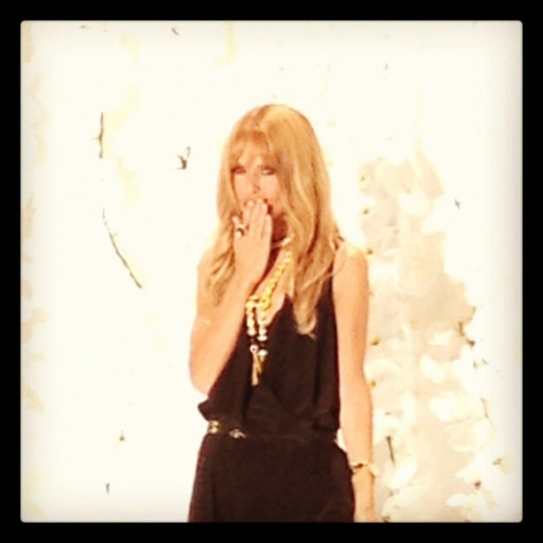 Rachel Zoe blew kisses to the audience after her show. Source: Instagram user instylemagazine