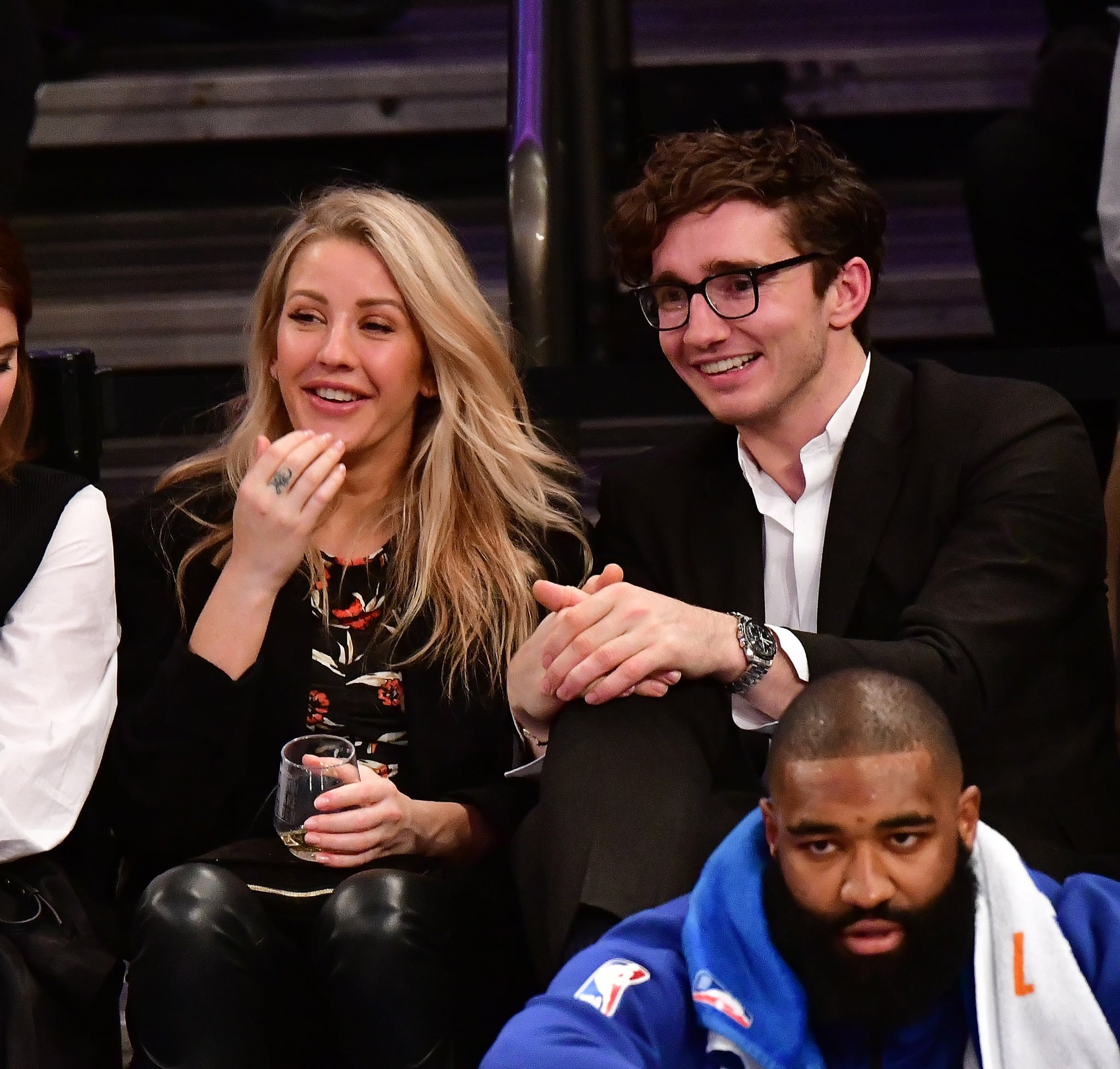 NEW YORK, NY - OCTOBER 27:  Ellie Goulding and Caspar Jopling attend the Brooklyn Nets Vs New York Knicks game at Madison Square Garden on October 27, 2017 in New York City.  (Photo by James Devaney/WireImage)