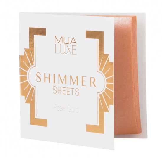 MUA Luxe Shimmer Sheet in Rose Gold (£3)