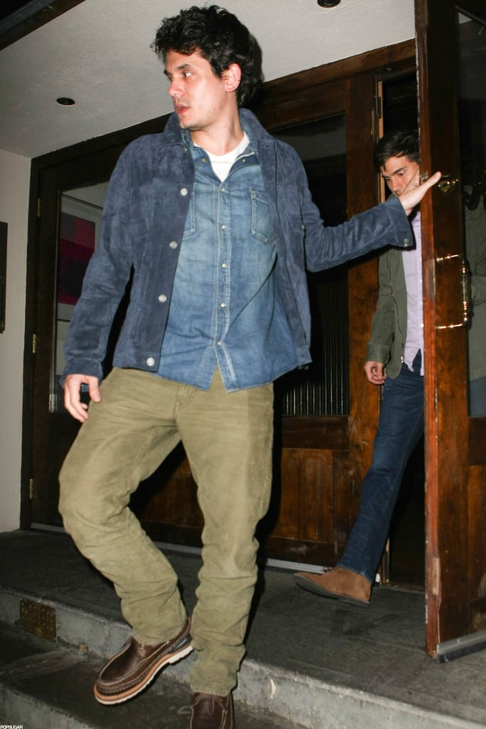 John Mayer left a restaurant in NYC with Katy Perry.