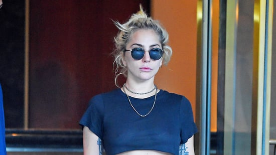 Lady Gaga Gives Off Miley Cyrus Vibes While Flashing Her Impressive Abs In NYC