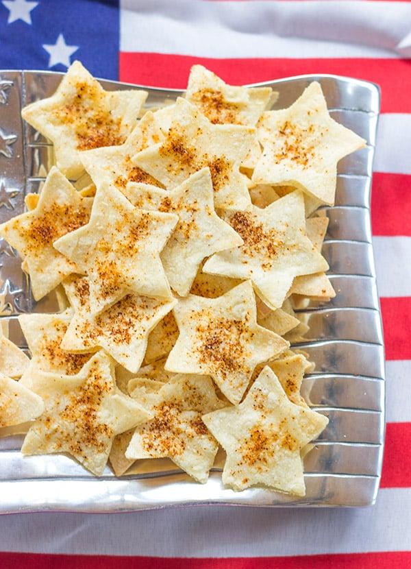 Star-Shaped Tortilla Chips