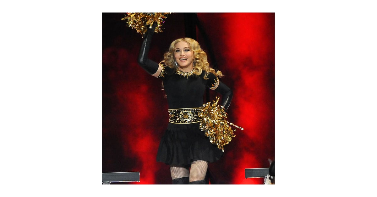 sc 1 st  Popsugar & Madonna 2012 Super Bowl Black and Gold Outfit | POPSUGAR Fashion