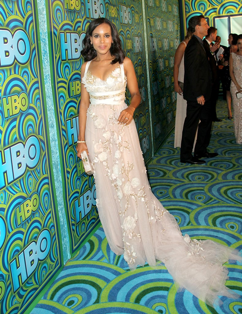 Kerry Washington walked the carpet at the 2013 HBO Emmys after party.