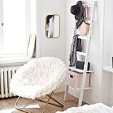 Winter Fox Faux-Fur Hang-A-Round Chair