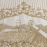 Bride Embroidered Love Story on Wedding Dress