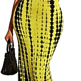 Sleeveless Halter Neck Dress