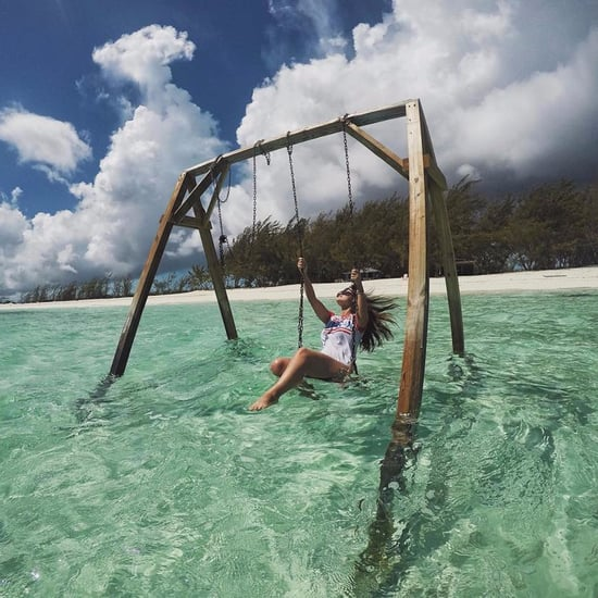 Ocean Swing Set in the Bahamas