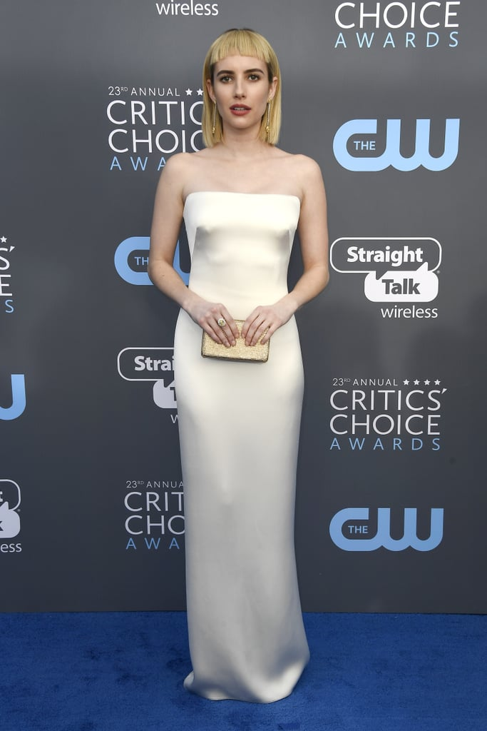Evan Peters And Emma Roberts At 2018 Critics Choice Awards Popsugar Celebrity