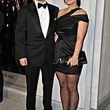 Henry Cavill brought girlfriend Gina Carano with him to the party.