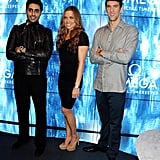 Michael Phelps posed with Natalie Coughlin at a party at The House of St. Barnabas in London.