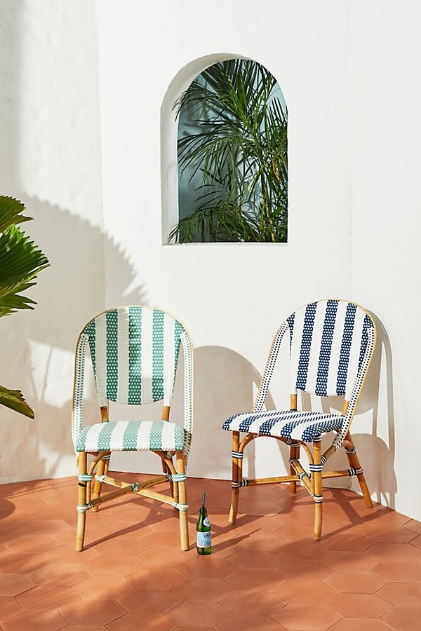Woven Stripes Bistro Chairs