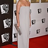 Charlize Theron dazzled in a gray column gown in 2006.