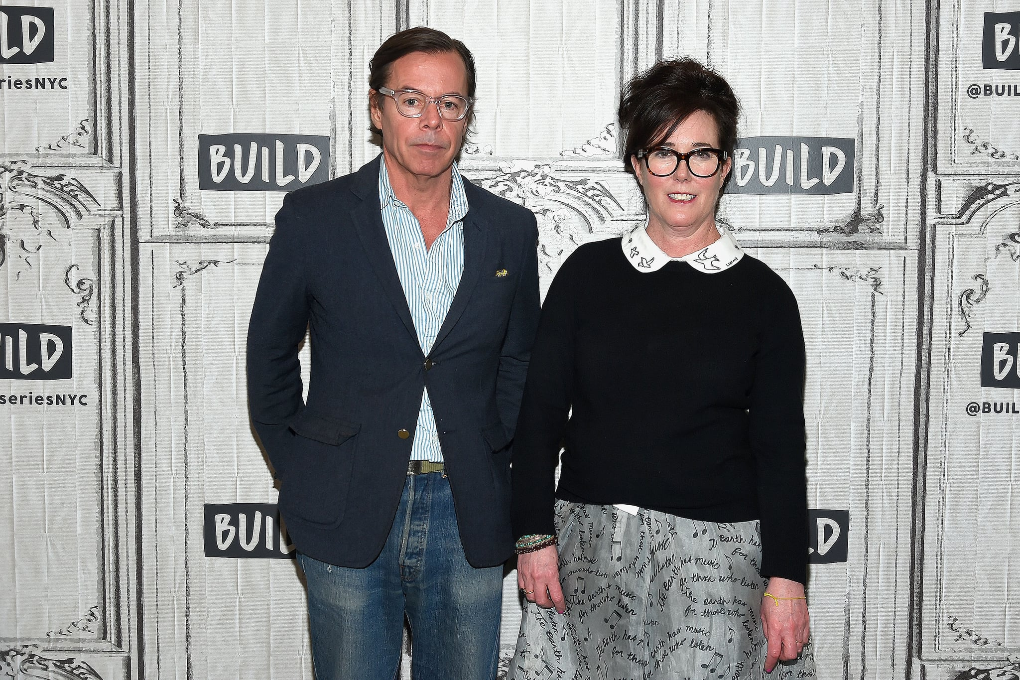NEW YORK, NY - APRIL 28:  Designers Andy Spade (L) and Kate Spade attend the Build Series at Build Studio on April 28, 2017 in New York City.  (Photo by Ben Gabbe/Getty Images)