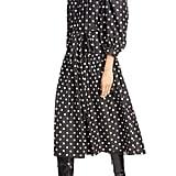Marc Jacobs Polka-Dot Print Silk Midi Dress