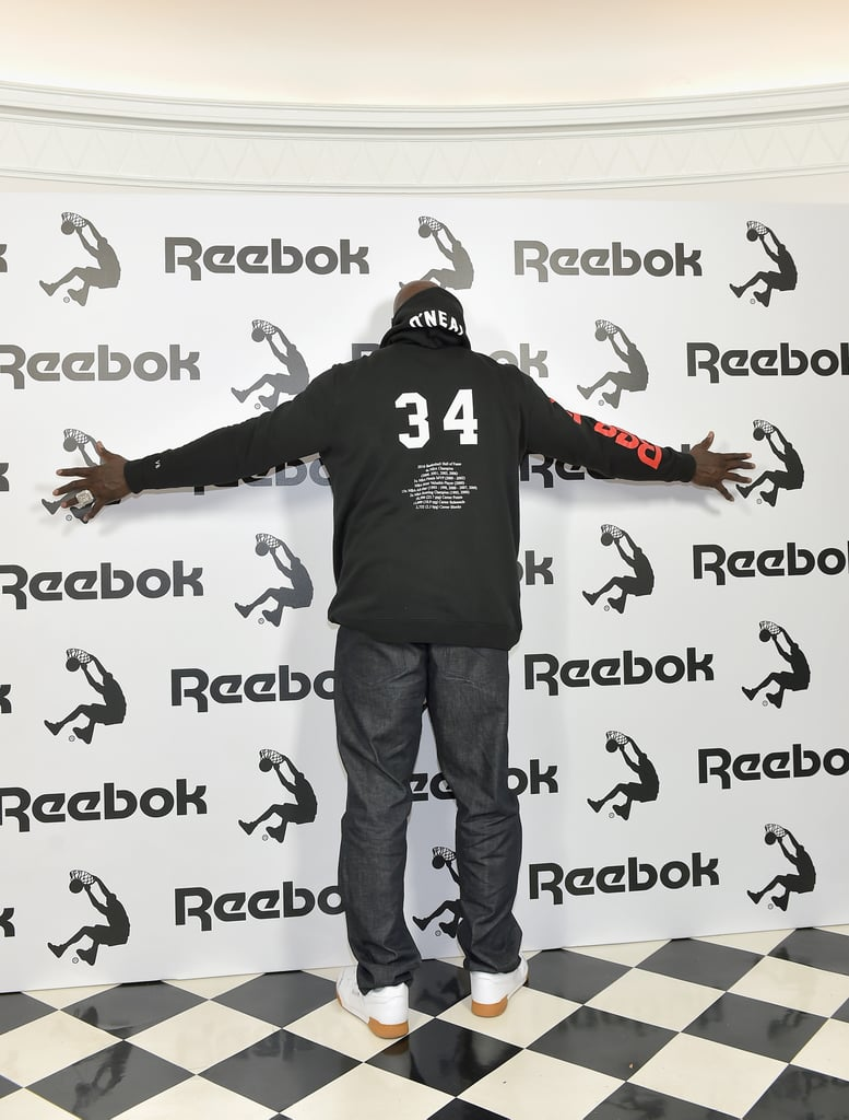 Shaq Showed Off the Back of the Hoodie