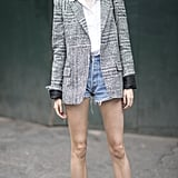 Dress Up Your Denim Shorts With a Blazer