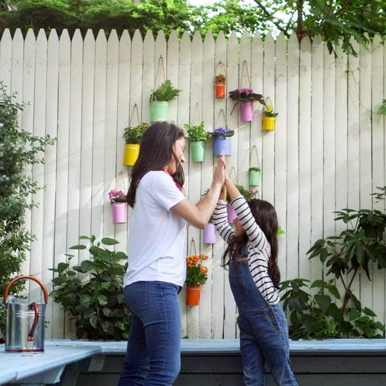 Make This Tin Can Vertical Garden With Your Kids