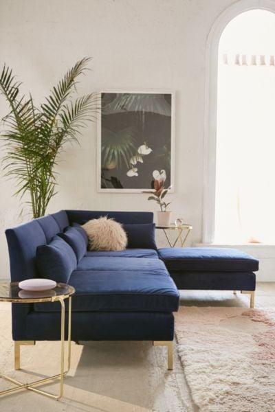 Cecilia Velvet Sectional Sofa