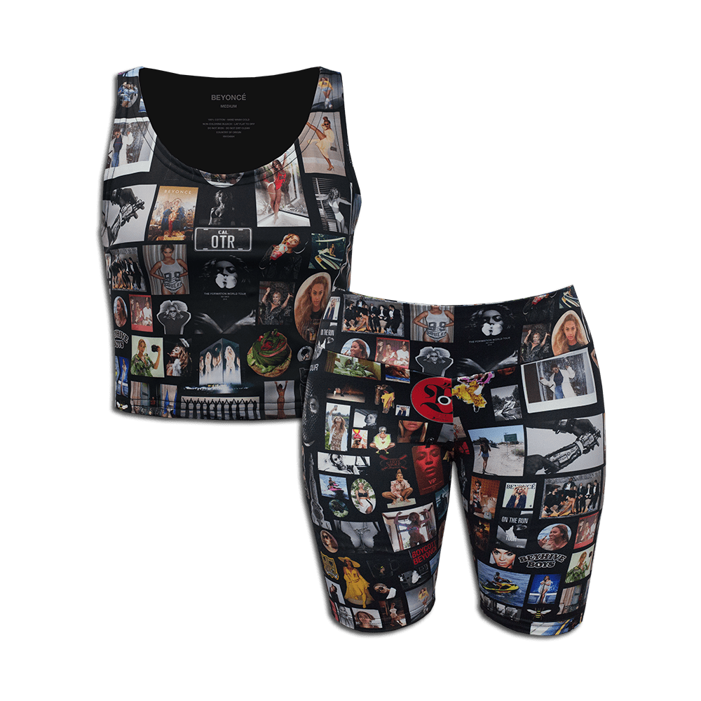BeySearch Tank and Bike Short Set