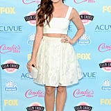The evening's host, Lucy Hale, looked chic in a midriff-baring Houghton ensemble.