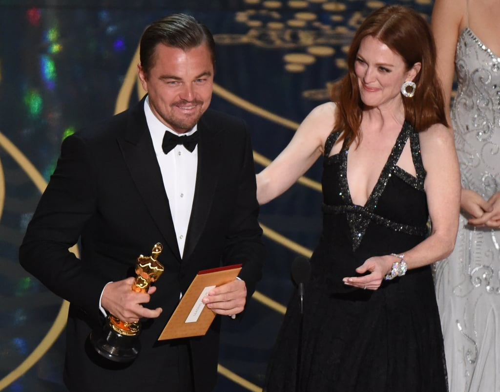 Leonardo DiCaprio Wins an Oscar GIFs