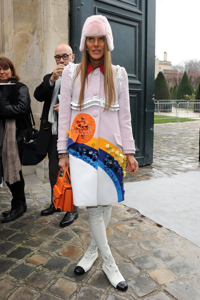 Anna Dello Russo at the Christian Dior Paris Haute Couture show.