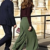 Duchess of Cambridge Jigsaw Trousers and Warehouse Jumper