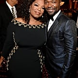 Oprah Winfrey and her Selma costar David Oyelowo met up for a photo.