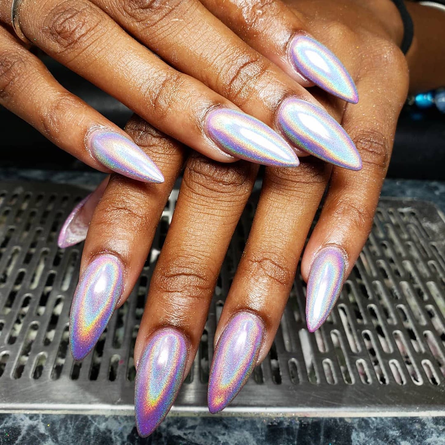 Best Holographic Nail Powders Popsugar Beauty