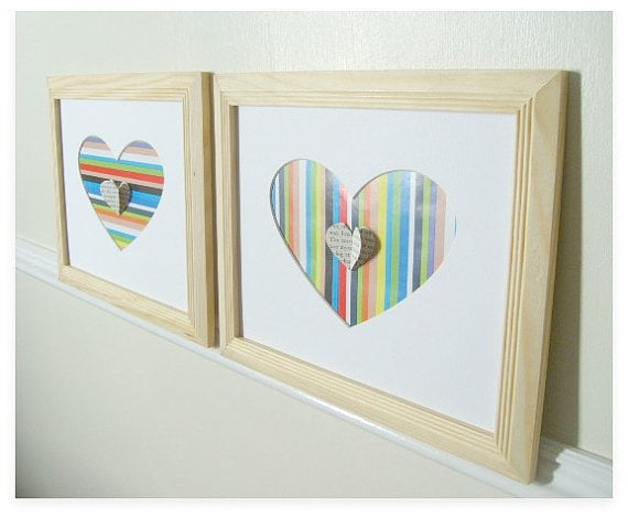 Children will cary this striped heart ($34) with them as they grow.