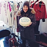 Designer Rebecca Minkoff was welcomed to the office with a birthday cake. Source: Instagram user rebeccaminkoff