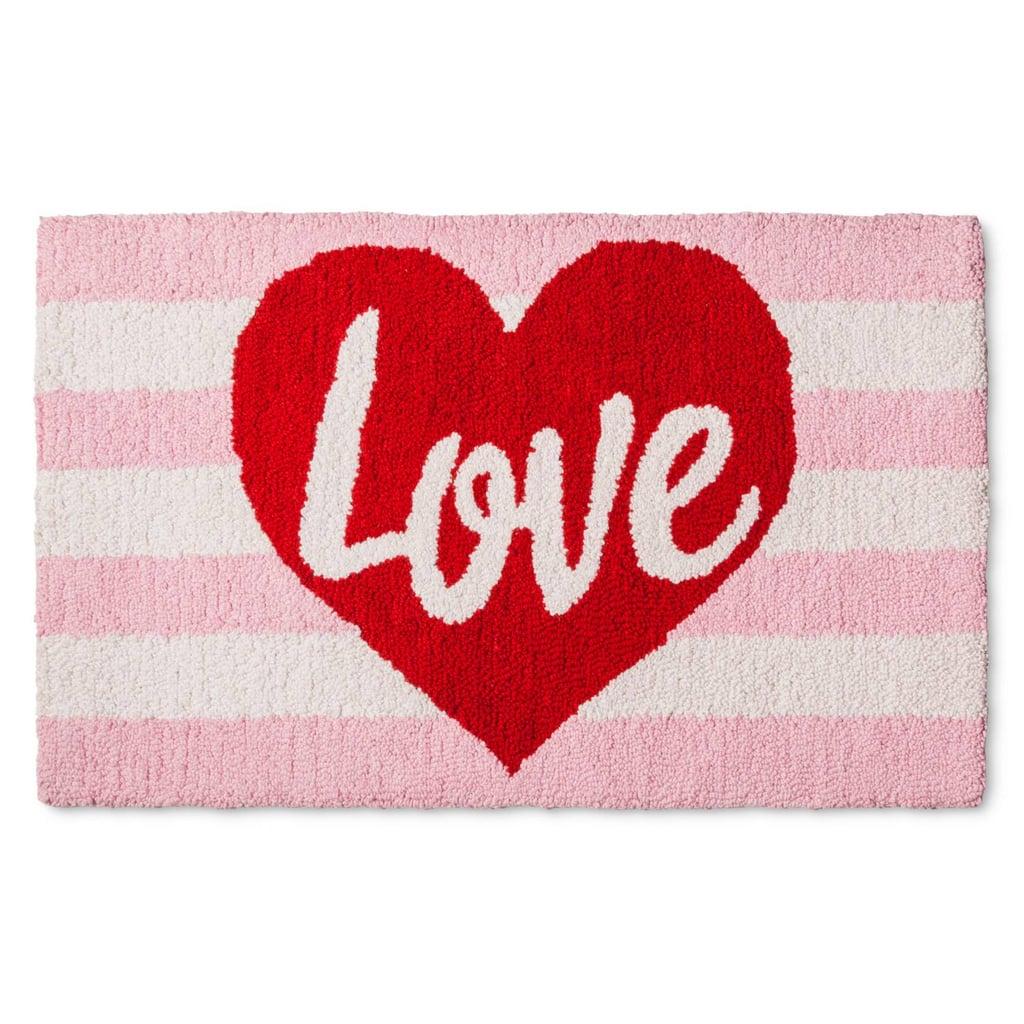 Love Hooked Rug