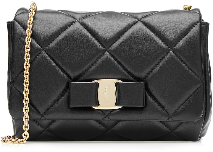 Salvatore Ferragamo Small Gelly Quilted Leather Shoulder Bag ($775)