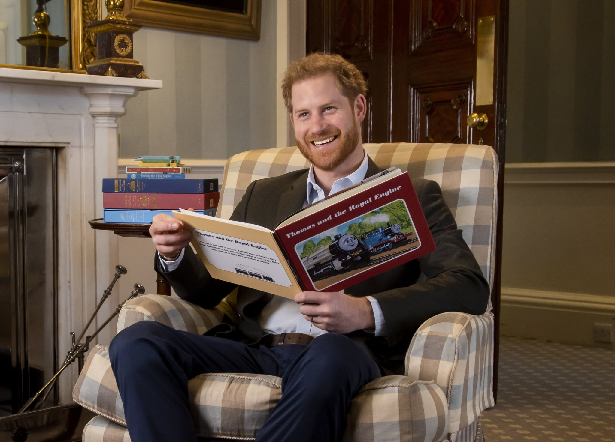 Image shows Harry, The Duke of Sussex photographed in January this year during the recording of his on-camera introduction to the new animated special