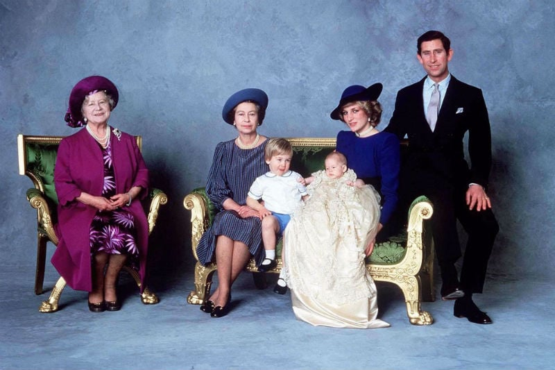 More of the blue background for this family portrait from Harry's big day!  Source: Photo courtesy of The British Monarchy