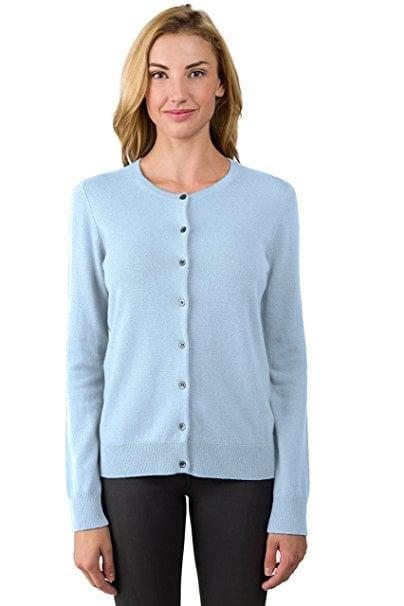 Jennie Liu 100% Cashmere Cardigan | Amazon Cashmere | POPSUGAR ...