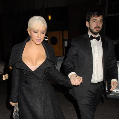 Christina Aguilera and Jordan Bratman Out in London