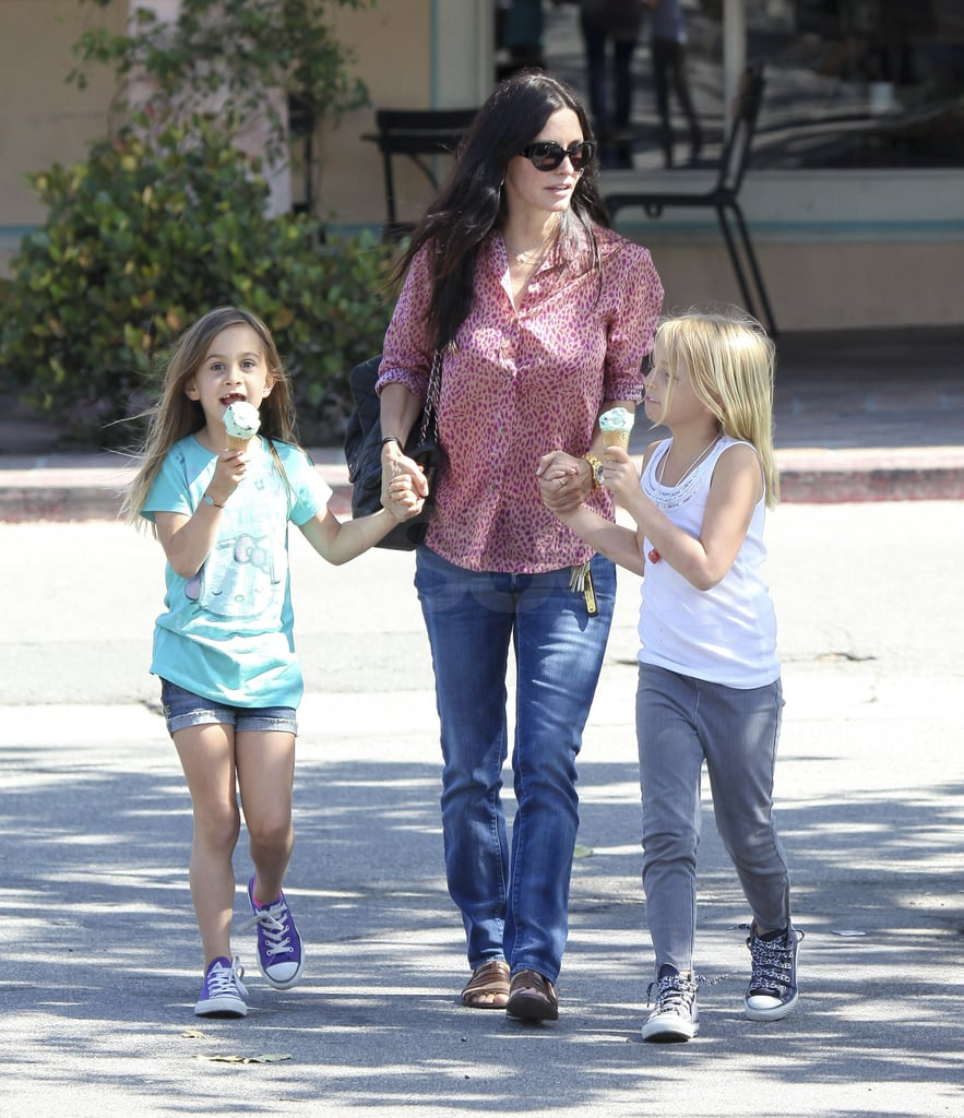 Courteney Cox Treats Coco and a Friend to a Sweet After-School Snack
