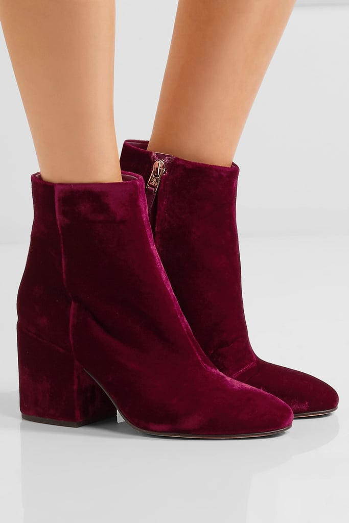 f8e30fcf7261 Sam Edelman Taye Velvet Ankle Boots