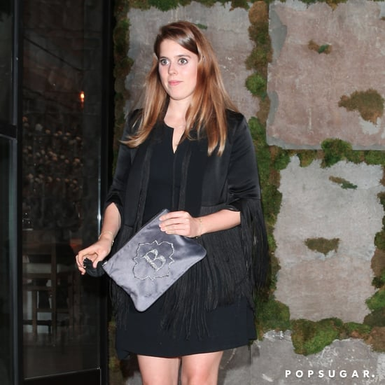 Princess Beatrice Monogrammed Silver Clutch
