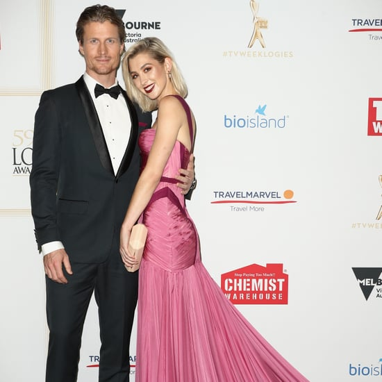 Alex Nation and Richie Strahan at the 2017 Logie Awards