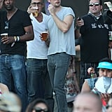 Alexander Skarsgard kicked back with friends at Coachella weekend two.