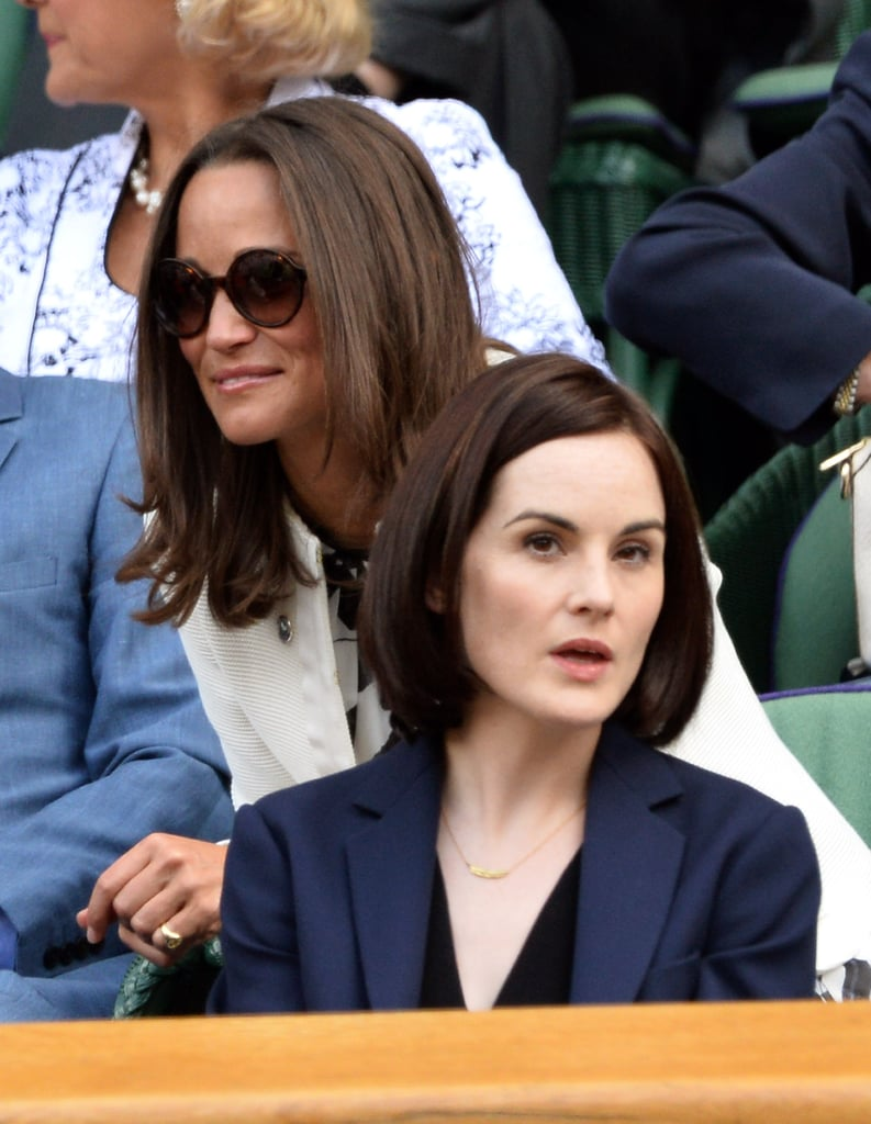 Pippa Middleton and Michelle Dockery sat near each other on day four.