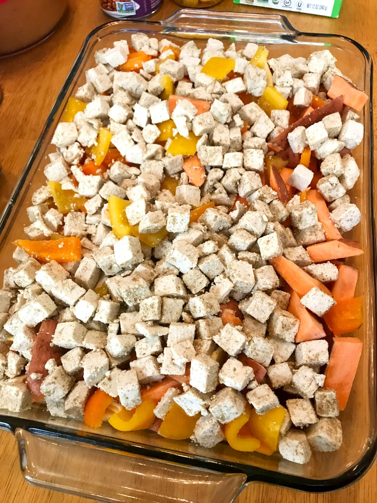 Wednesday Dinner: Roasted Tofu, Sweet Potato and Peppers