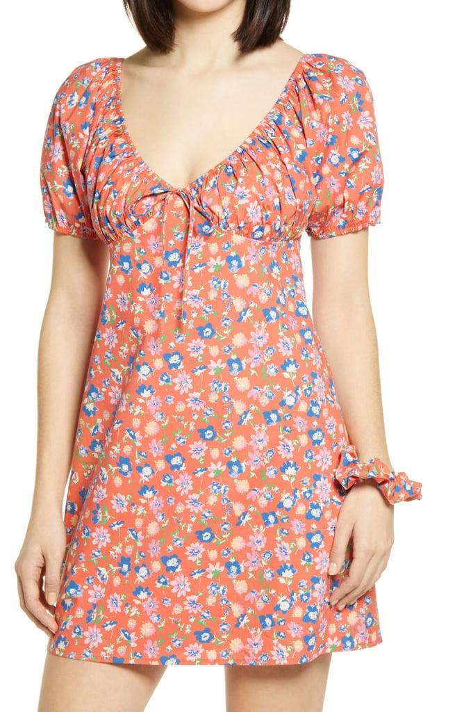 WAYF Cruz Floral Minidress